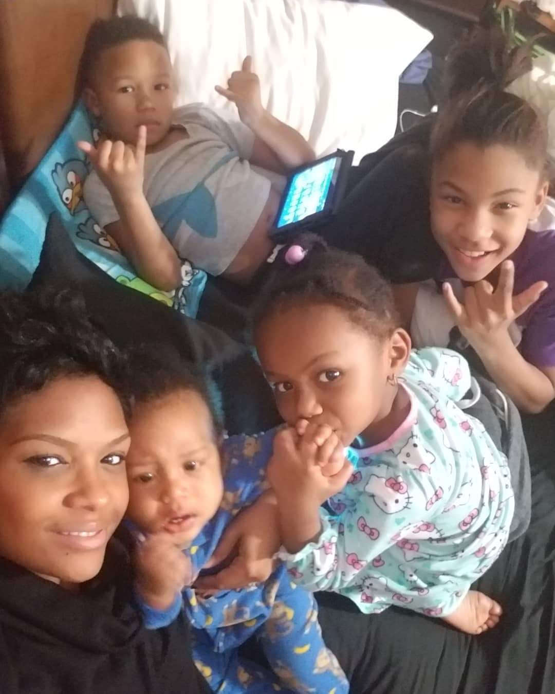 Chanelle Burt and kids